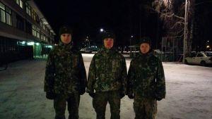 luutnantti ja alokkaita