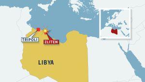 Libyan kartta.