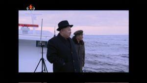 Pohjois-Korean johtaja Kim Jong-un seuraamassa ohjuskoetta.