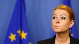 Tanskan maahanmuuttoministeri Inger Stojberg.