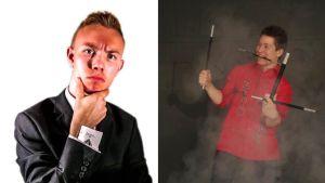 Imtralaiset Kristian Backman ja Eetu Lampi ovat katutaikureita.