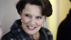 Liikenne- ja viestintäministeri Anne Berner politiikan toimittajien lounaalla ravintola Sunnissa Helsingissä keskiviikkona 13. tammikuuta.