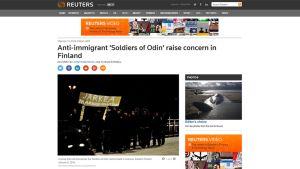 Kuvakaappaus uutistoimisto Reutersin internetsivuilta.