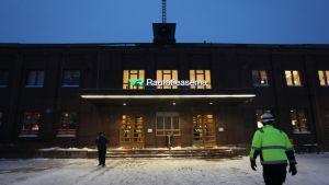 Lahden rautatieasema talvella 2016.