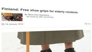 BBC:n uutinen ilmaisista liukuesteist vanhuksille