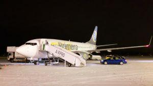 Primera airin lentokone Lappeenrannan lentoasemalla