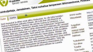 Työpaikkailmoitus mol.fi-sivustolla