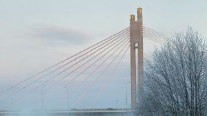 Näkymä talviselta Rovaniemeltä.