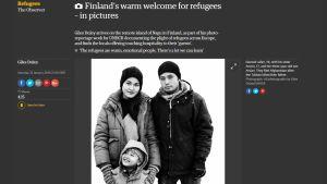 Kuvakaappaus The Guardian -lehden verkossa julkaisemasta galleriasta.