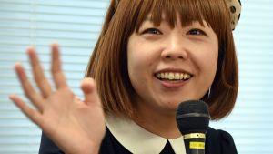 Japanilaistaiteilija Megumi Igarashi lehdistötilaisuudessa Tokiossa 1. helmikuuta 2016.