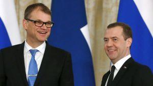 Juha Sipilä ja Dimitri Medvedev.