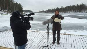 Pesärauhan julistajan kunniatehtävässä toimi Etelä-Savon maakuntahallituksen puheenjohtaja Jarkko Wuorinen.