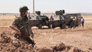 Turkin armeijan sotilas.