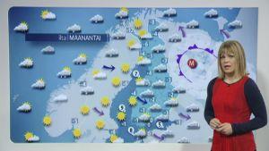 Elina Lopperi ennustaa maanantain säätä.