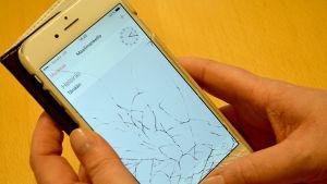 Iphonen rikkinäinen näyttö