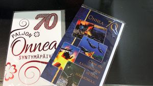 70-vuotiskortteja