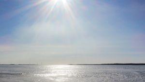 meri, jää, auringonpaiste
