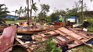 Trooppisen hirmumyrskyn tuhoja Fidzisaarilla 21. helmikuuta.