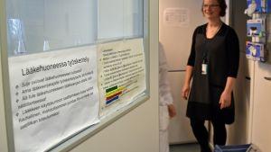 Lääkehuone Savonlinnan keskussairaalassa