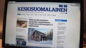 Keskisuomalainen uudisti verkkopalvelun ennenkuin lehti kutistuu tabloidiksi.