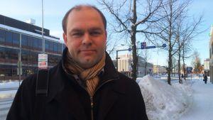 Kainuun Sanomien päätoimittaja Markus Pirttijoki.