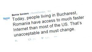 Bernie Sandersin twiitti.