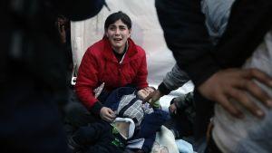 Turvapaikanhakija Makedonian rajalla
