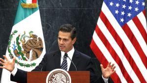 Presidentti Enrique Peña Nieto 25. helmikuuta 2016.