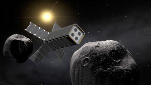 Suomalaisvalmisteinen satelliitti ja kaksi asteroidia.