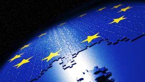 Palapeli Euroopan unionin lipusta.