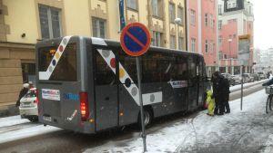 Oulun keskustassa liikennöidään kolmella eri citybussilinjalla