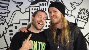 "Stam1nan Pekka Olkkonen ja Antti ""Hyrde"" Hyyrynen."