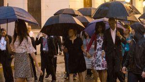 Obamat Kuubassa.