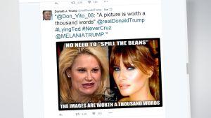 Kuvakaappaus Donald Trumpin twitter-tililtä.