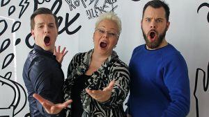 Valtteri, Kalle ja Johanna Rusanen
