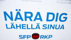 RKP:n mainos eduskuntavaaleissa keväällä 2015.