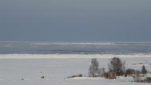 Talvinen maisema Merenkurkussa.
