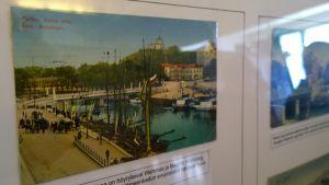 Petri Aallon kokoamassa näyttelyssä esittäytyy Aurajoen ylempi höyrylaivasatama.