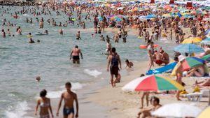 Näkymä Varnan rannalle Bulgariassa.