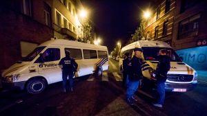 Belgian poliisi teki perjantaina useita pidätyksiä Brysselissä.
