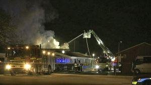 Malmössä syttyi tulipalo myöhään lauantai-iltana 10. huhtikuuta arabialaisessa koulussa.