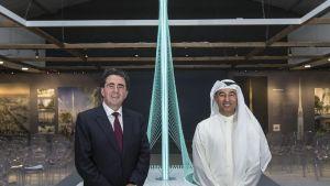 Pienoismalli Dubain uudesta tornitalosta