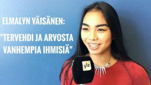 Nuori tyttö haastattelussa