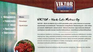 Viktor - Work-Life Metrics Oy:n nettisivut