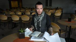Prosessitekniikan aikuisopiskelija Sebastian Pesola.