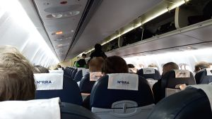 Norran lentokoneen matkustamo.