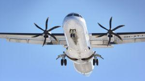 Lentokone ilmassa.