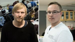 Pekka Peura (vas.) ja Olli Karkkulainen (oik.).