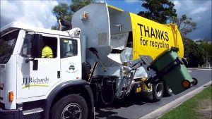 Australialainen jätteenkeruuauto.
