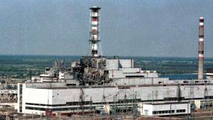 Tšernobylin ydinvoimala onnettomuuden jälkeen.